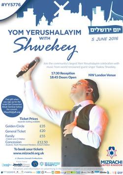 Yom Yerushalayim 5776 with Shwekey