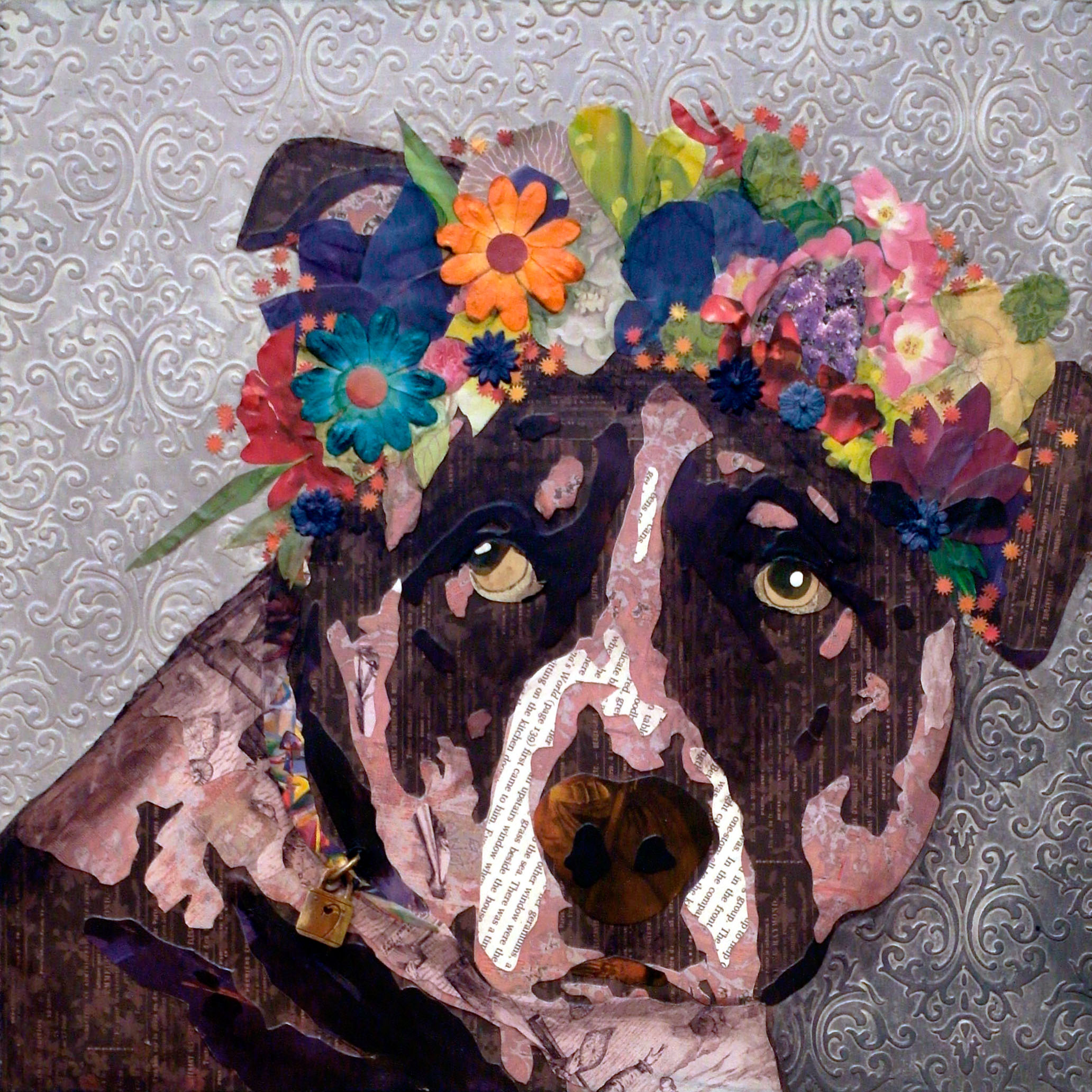 Dog with Flower Crown #1