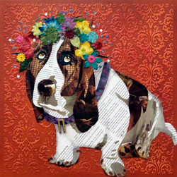 Dog with Flower Crown #5