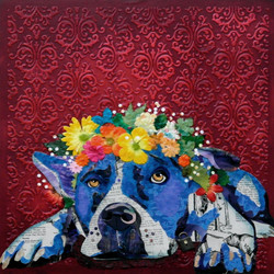 Dog with Flower Crown #6
