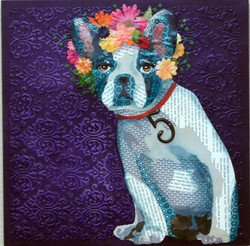 Dog with Flower Crown #4