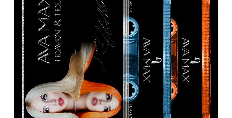 Ava Max - 2x Cassette HEAVEN & HELL + Card Autografado