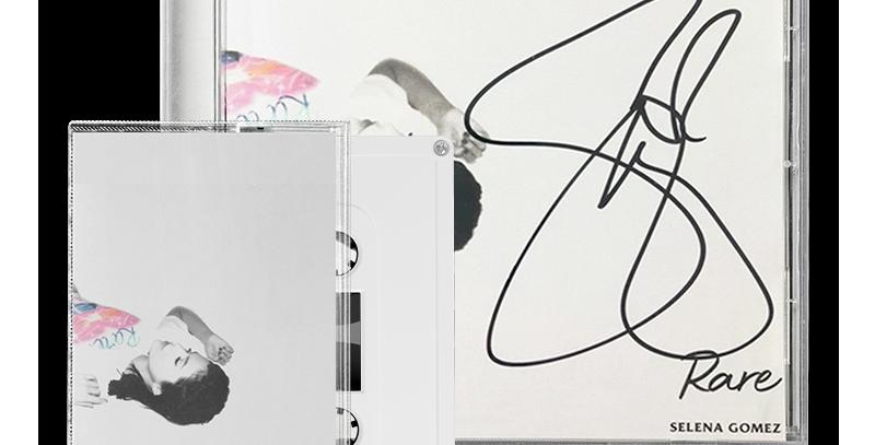 Selena Gomez - CD Standard Rare + Encarte Autografado + Cassette Branca