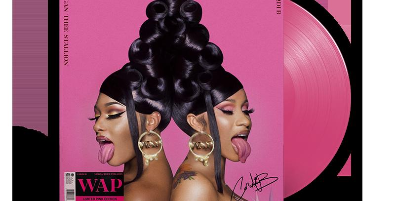 Cardi B - LP Autografado WAP Rosa