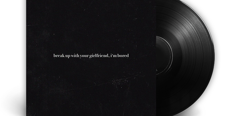 Ariana Grande - Break up with your girlfriend, i'm bored LP Single Limitado Raro