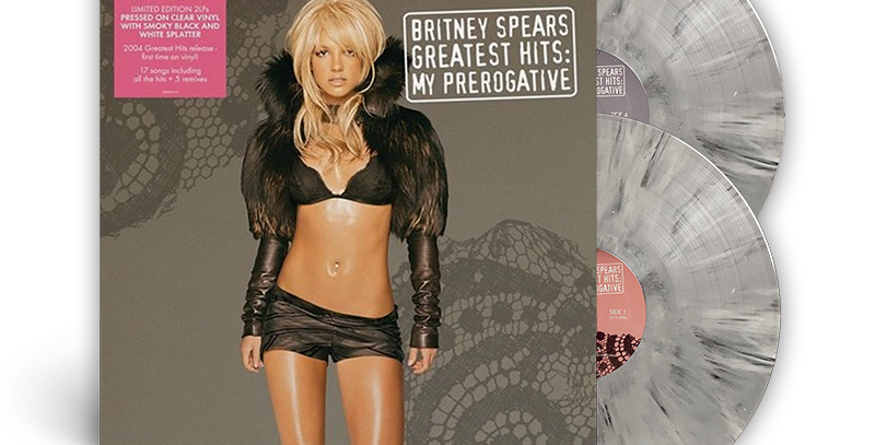 Britney Spears - 2x LP Greatest Hits: My Prerogative Limitado Cinza Splatter