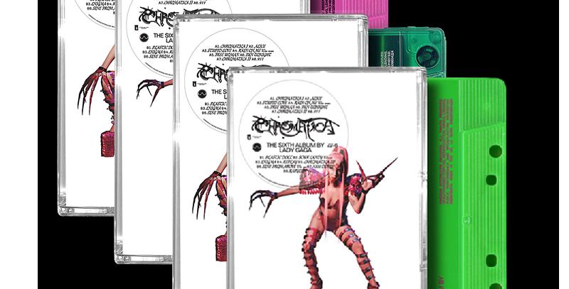 Lady Gaga - 4x Cassettes Chromatica + Art Card Autografado