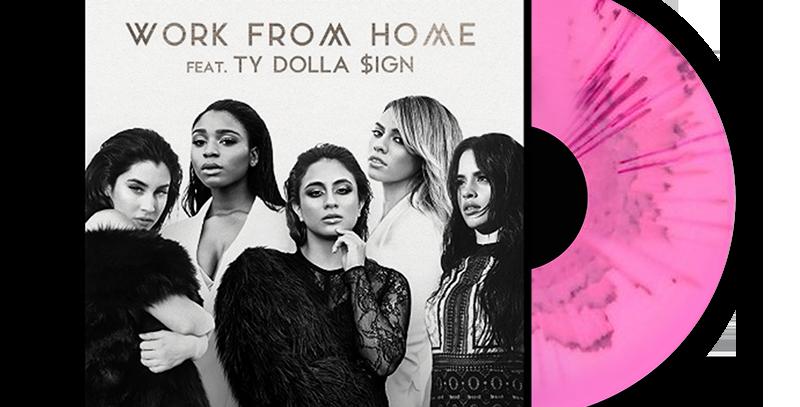 Fifth Harmony -LP Work From Home Limitado Rosa Splatter