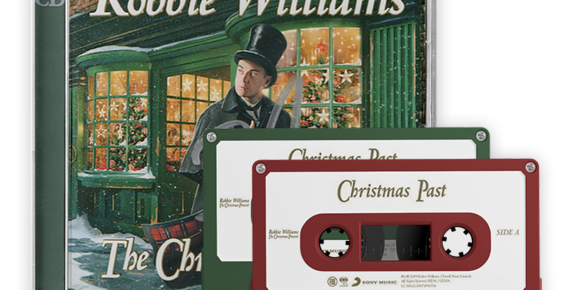 Robbie Williams - 2x CD Autografado & 2x Cassette The Christmas Present