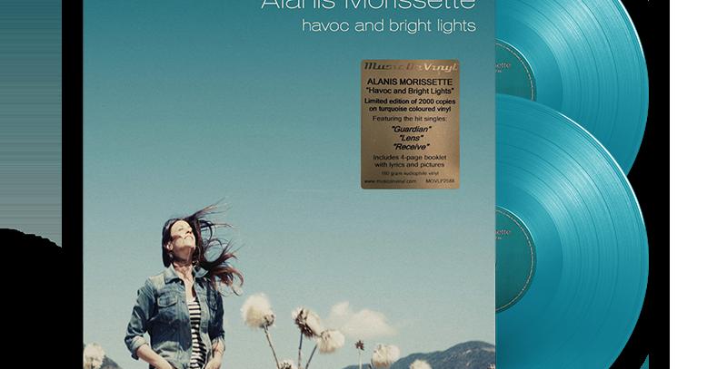 Alanis Morissette = 2x LP Havoc And Bright Lights Limitado Turquesa