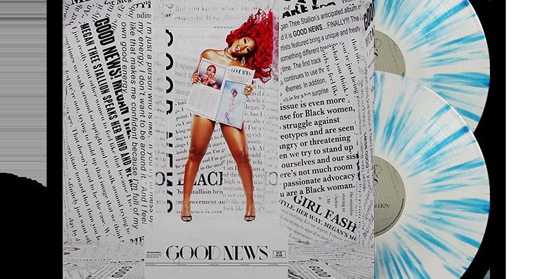 Megan Thee Stallion - 2x LP Good News Limitado Azul Splatter