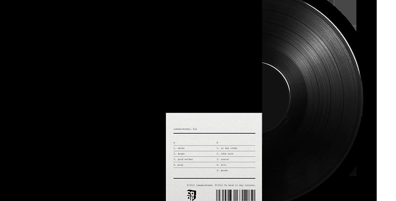 "iamamiwhoami - LP Preto ""Kin"""