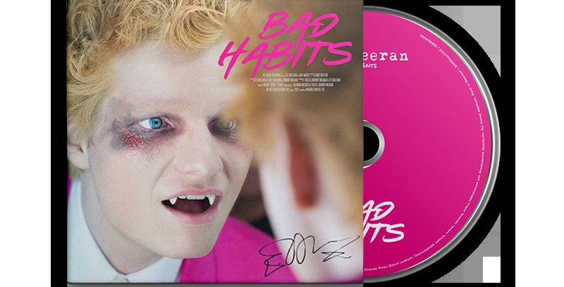 Ed Sheeran - CD Single Autografado Bad Habits