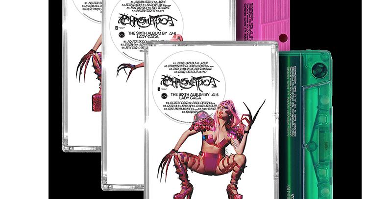 Lady Gaga - Bundle 3x Cassettes Chromatica + Card Autografado