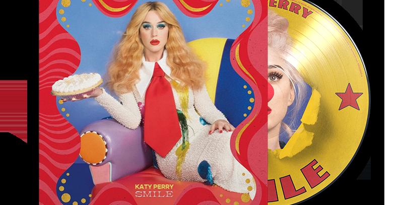 Katy Perry - LP Picture Disc Smile Alemão + Art Card Autografado
