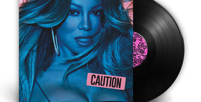Mariah Carey - LP Caution Disco Preto Gatefold
