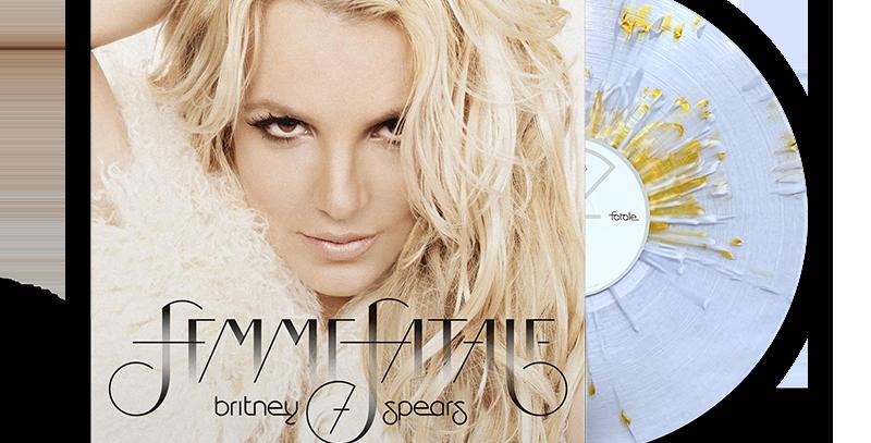 Britney Spears - LP Femme Fatale Limitado Dourado Splatter