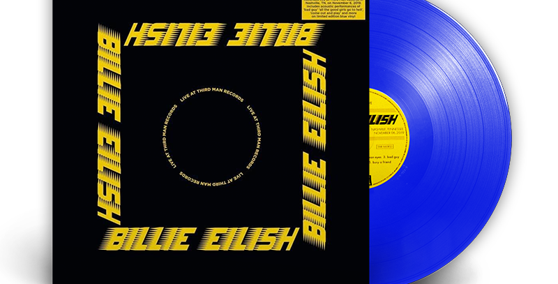 Billie Eilish - LP Live At Third Man Records Azul Limitado - Record Store Day