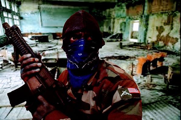 a Crip Paramilitaries Soldier in a safe