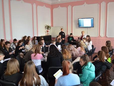 """Відбувся круглий стіл """" Стабільна взаємодія шкільних парламентів з Міським учнівським парламентом –"""