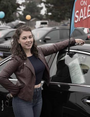 Kenni Flood in Becky's New Car