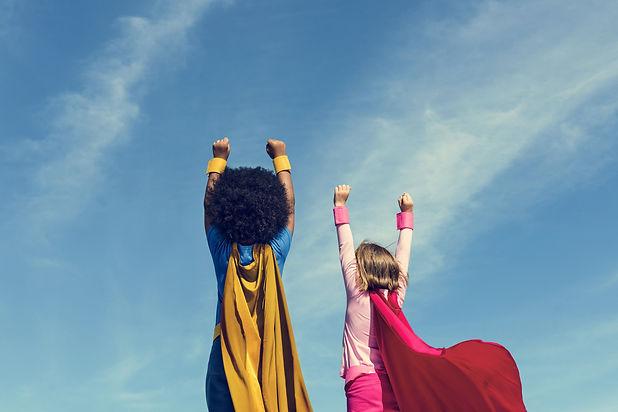 Children Fun Superhero Costume  Concept.
