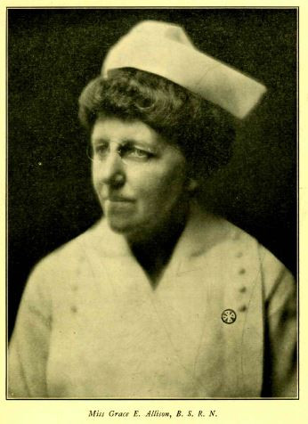 Portrait of Grace Allison, who served as Chief Nurse of the Lakeside Unit, in her uniform.