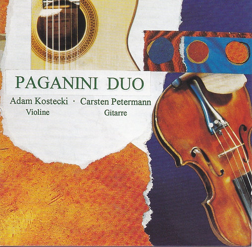 PAGANINI DUO AUDIO-CD Violine & klassische Gitarre
