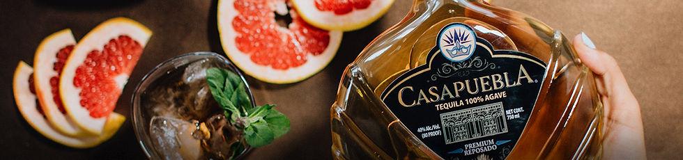 CasaPuebla Tequila Reposado with cocktail