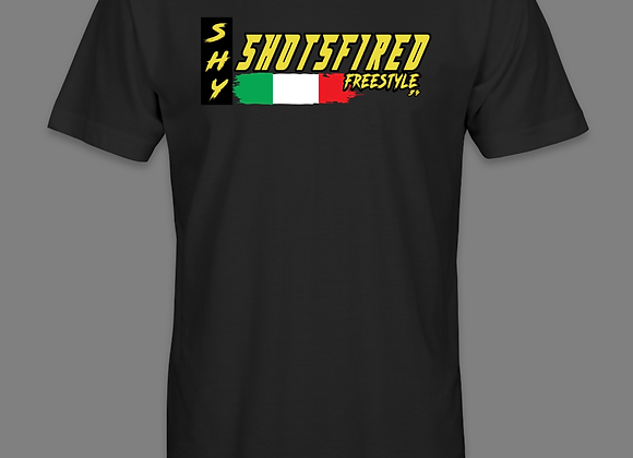 International Shotsfired shirt. (Add your country at checkout)