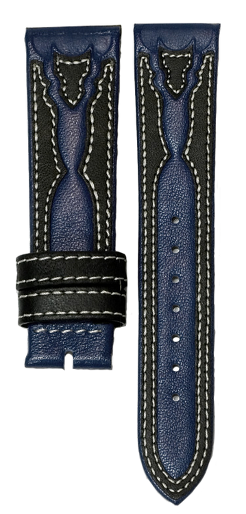 Blue Black Leather Band