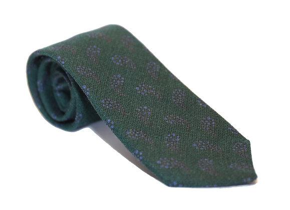 Corbata verde paisely azul