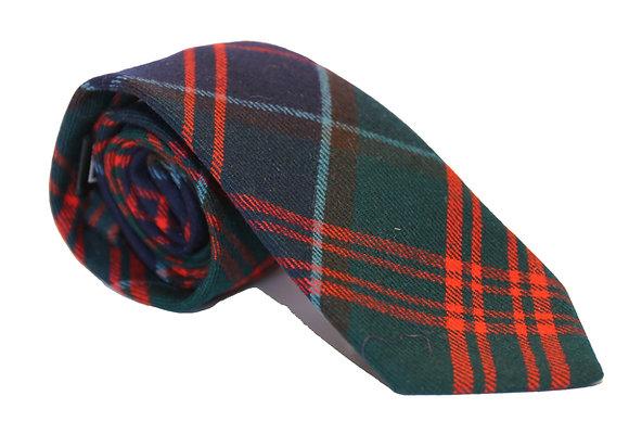 Corbata cuadro escocés verde