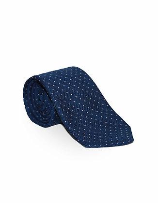 Corbata Azul Marino Puntos Blancos
