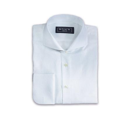 Camisa Blanca de Vestir Cuello Chester