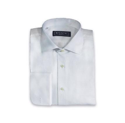 Camisa Blanca de Vestir Cuello Italiano