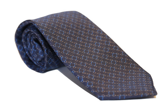 Corbata azul eslabón