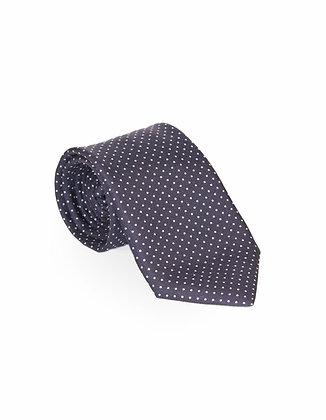Corbata Oscura Puntos Blancos