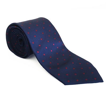 Corbata azul lunar rojo