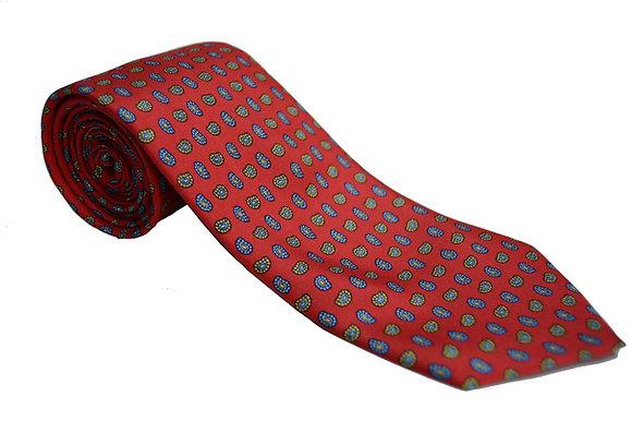 Corbata roja paisley pequeño