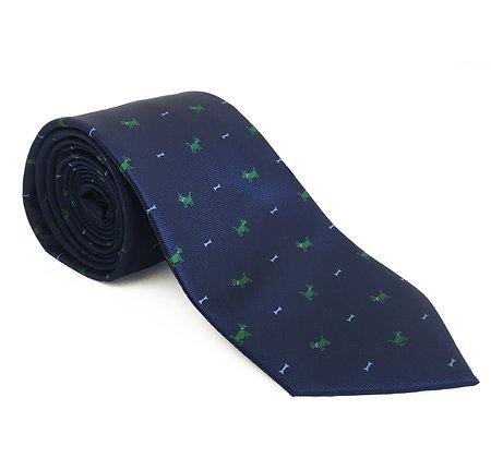 Corbata marino perros verdes