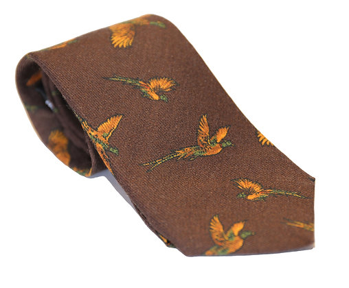 Corbata marrón faisán