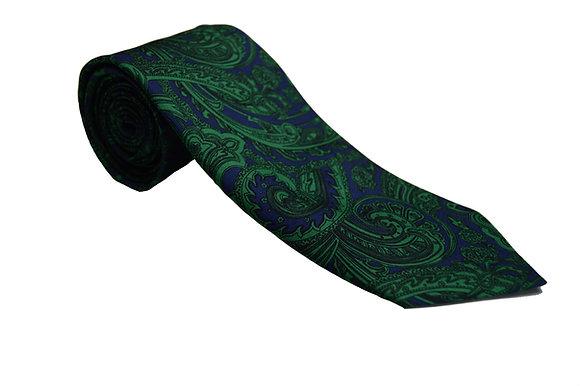 Corbata paisley verde y azul