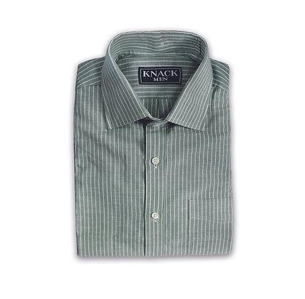 Rayas Verdes Camisa de Hilo