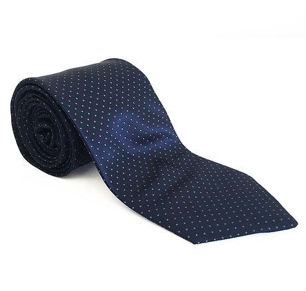 Corbata marino puntos verdes