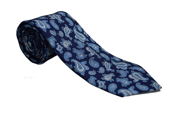 Corbata paisley azul claro
