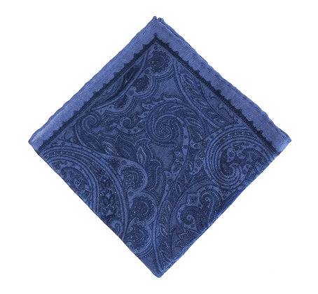 Azul dibujo paisley azul