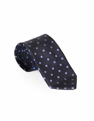 Corbata Azul Oscura Lunares Claros