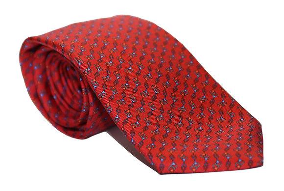 Corbata roja eslabones