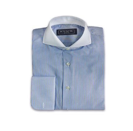 Camisa Azul con Cuello Banco Chester